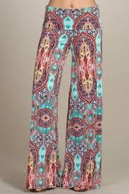 Resultado de imagen para pantalones en chalis estampados