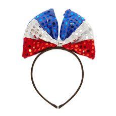 Light Up USA Bow Headband