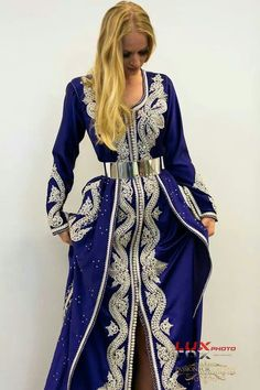 Purple and Silver Kaftan