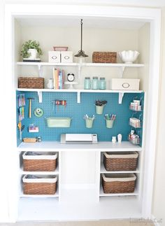 Amazing craft closet from Beneath my Heart!