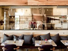 Craft Trattoria, Italian Restaurant Interior design. Contemporary restaurant design with natural timbers.