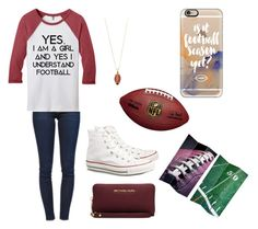 """Football game time"" by powellsamantha-1 on Polyvore featuring Casetify, Frame Denim, Tommy Hilfiger, Converse and MICHAEL Michael Kors"