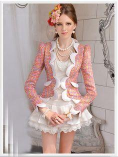 Morpheus Boutique  - Pink Flora Hem Lady Shoulder Knit Long Sleeve Jacket, $89.99 (http://www.morpheusboutique.com/pink-flora-hem-lady-shoulder-knit-long-sleeve-jacket/)