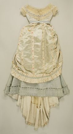 Silk ensemble with evening bodice (front), by Dupret, French, ca. 1867.