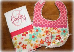 Custom Personalized Sweet Floral Baby Girl by customkidsboutique