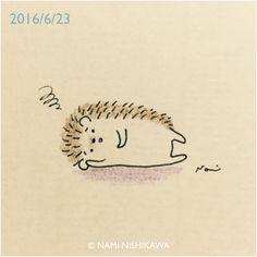 When hedgehog has bad day ☹️ Hedgehog Drawing, Hedgehog Craft, Cute Hedgehog, Hedgehog Illustration, Cute Illustration, Doodle Art, Easy Drawings, Cute Art, Art For Kids