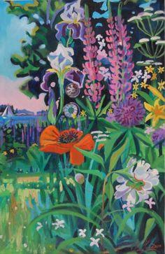 lupine and iris - Jill Hoy