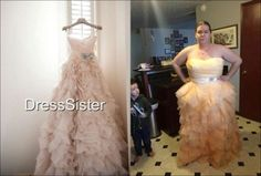 This knock off nightmare comes from a shop on etsy.com named DressSister. Thankfully, they're gone... but it's a great example of how a girl can get burned.