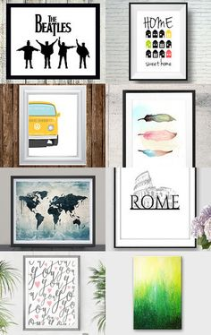 Decorate those walls! by Sarah Davis on Etsy--Pinned with TreasuryPin.com
