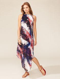 Mare Pleated Handkerchief Dress by La Perla Swim on Gilt