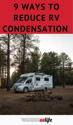 Keeping an RV dry is not as easy as a sticks and bricks. If you are looking for the best ways to reduce condensation then you have come to the right place. Here are 9 of the best ways to reduce condensation in your rig if you are traveling this fall or winter. From using moisure absorbers, dehumidifiers, to cooking outdoors, and so many more. Check out the blog post for all the details, and don't let a little moisture ruin your next camping adventure. Rv Hacks, Outdoor Cooking, Motorhome, Recreational Vehicles, Dehumidifiers, Rv Tips, Camping, Adventure, Ruin