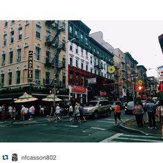 #Repost @nfcasson802 ・・・ Little Italy NYC #barnardsummer