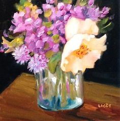 """Daily Paintworks - """"Sweet Dreams"""" - Original Fine Art for Sale - © Libby Anderson"""