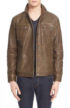 John Varvatos Collection Leather Jacket