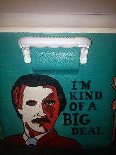cooler with Ron Burgundy #anchorman