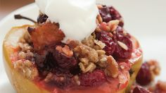 Cranberry Stuffed Apples with Brown Sugar Pecan Crisp