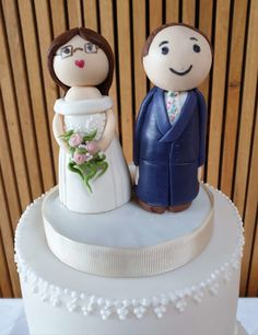 Hand made sugar peg doll bride and groom wedding cake topper, made from photos of the bride and grooms outfits Wedding Cake Toppers, Wedding Cakes, Painted Wedding Cake, Groom Outfit, Grooms, Wedding Couples, Stationery, Hand Painted, Sugar
