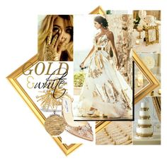 """gold & white"" by sahrish-hossain ❤ liked on Polyvore featuring David Yurman, Jimmy Choo and Roberto Coin"