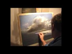 Demonstration of Painting Pastels Storm Clouds and reflections .wmv
