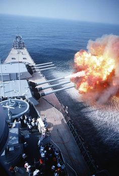 Iowa-class battleship. I wish I could hear it fire.