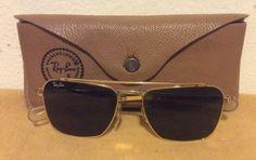 Vintage Ray Ban B&L USA 52[]16 Caravan Aviator Sunglasses & Case 14k Plate