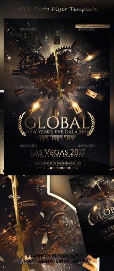 New Years Eve Party Flyer Template V  Party Flyer Flyer