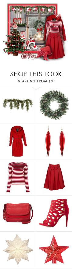 """""""God Jul, a Scandinavian Christmas"""" by franceseattle ❤ liked on Polyvore featuring Allstate Floral, Mark Davis, Sonia Rykiel, FOSSIL, Delicious, Cultural Intrigue and Burberry"""