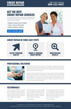 We provide effective and ready to use credit repair services ready to use responsive landing page designs at a very affordable prices.
