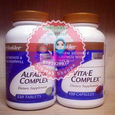 [#ALFALFA DAN #VITAMIN E]  2 kombinasi yang baik untuk kesihatan wanita.  #Alfalfa mengurangkan keputihan, memjamin kebersihan alat sulit, menghilangkan bau badan.  #VitaminE untuk seimbangkan hormon, mengurangkan panas badan, bagus untuk mengurangkan payudara yang sakit semasa PMS.  Bonus - kulit cantik berseri tau!  Hanya RM202 untuk penggunaan sehingga 4 bulan.. Sms/whatsApp ke 019-3929910.  #shakleetemerloh  #shakleeputrajaya  #shaklee18r8  #putrajaya  #temerloh  #cikmahshoppe  #sayajual…