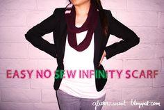 No Sew Infinity Scarf!