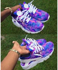 dd8719f11272 Nike Air Huarache Galaxy Royal Blue Purple Trainer Style beautiful and  colorful