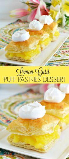 Easy Lemon Curd Puff Pastries Dessert Recipe