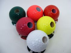 Golf Ball Pen Holder with Poker Chip Golf Ball Marker by AdamoGolf