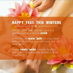 Your #feet need as much care as the rest of your body. #Insure their care this #winter. #TakeCare