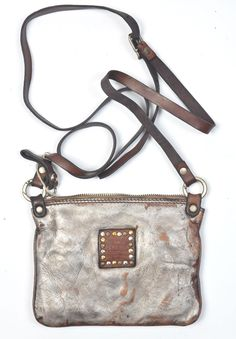 Campomaggi Tracolla Cross Body Bag in Silver » Santa Fe Dry Goods | Clothing and accessories from designers including Issey Miyake, Rundholz...