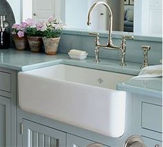 Kitchen Convenient Cleaning With Stainless Steel Farm Sink intended for measurements 1600 X 1067 Kohler Farmhouse Sink Faucets - Farmhouse kitchen sink, Decor, Kitchen Inspirations, Farmhouse Sink Kitchen, Interior, Traditional Kitchen Sinks, Home, Kitchen Remodel, House Interior, Country Kitchen