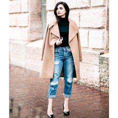 oversized camel coat by Merna Mariella