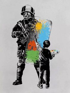Shop our selection of Pop Art canvas prints. We use premium inks for brilliant color and hand-stretch each canvas print over museum-quality stretcher bars. Banksy Graffiti, Street Art Banksy, Arte Banksy, Banksy Prints, Banksy Canvas, Bansky, Protest Kunst, Protest Art, Canvas Art