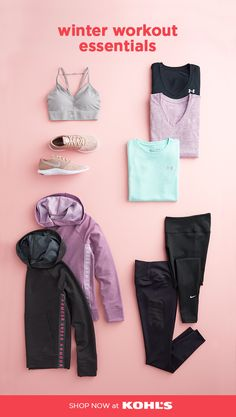"""bec4c80ac0 Heat up your winter routine with women s workout clothing at Kohl s.  Essentials like Nike """""""