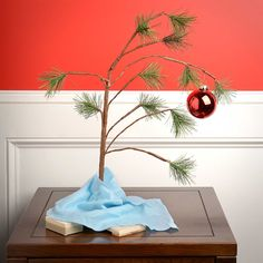 "Product Works Peanuts 14"" Charlie Brown Christmas Tree With Linus' Blanket"