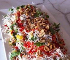 Shredded Chicken Rice Noodle Salad with Nuoc Cham Dressing by Wendy Crombie on www.recipecommunity.com.au