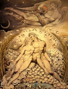 William Blake: Adam and Eve. 1808.