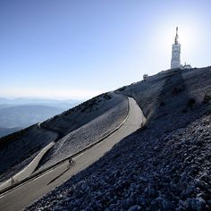 """pedalitout: """"The Mont Ventoux. A mystic playground and location for thrilling fights in cycling history. Next chance: Stage 14 of 2016 📷: by castellicycling. Cycling Tattoo, Cycling Art, Provence, Alpe D Huez, The Mont, Cycling Motivation, Cycling Accessories, Weekends Away, Bike Trails"""