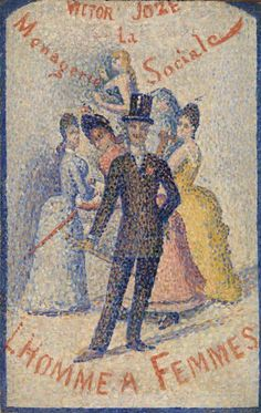 The Ladies' Man (L'Homme à femmes) by Georges Seurat, The Barnes Foundation Barnes Foundation (Philadelphia), Collection Gallery, Room West Wall Medium: Oil on panel Georges Seurat, Barnes Foundation, Impressionist Artists, Fine Art Prints, Canvas Prints, National Gallery Of Art, Pointillism, Art Institute Of Chicago, Canvas Paper