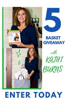 Win 1 of 5 extra Large Belvedere Home Goods Organization Basket and Professional Organizer Kathi Burns' book and Amazon Best Selling book - How to Master Your Muck! 🌟 Follow the link 🌟 Enter your email address 🌟 BONUS: Follow instructions for more entries The contest runs until June 15th at 12:00 pm EST. The winner will be announced on June 16th via Belvedere Home Good's story. The giveaway will not be sponsored, endorsed or administered by or associated with Pinterest.