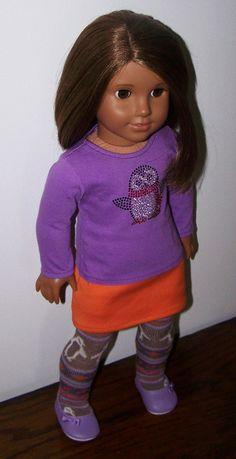 American Girl Doll Penguin Shirt Skirt and by AuntSissyOriginals, $25.00