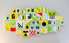 Modern Nursery Alphabet Blocks
