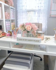 46 modern home office design ideas - breathtaking 46 modern home office . - 46 Modern Home Office Design Ideas – Stunning 46 Modern Home Office Design Ideas – - Home Office Space, Home Office Design, Home Office Decor, Office Designs, Pink Office Decor, Shabby Chic Office, Feminine Office Decor, Office Workspace, Work Office Decorations