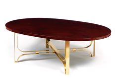 Jules Leleu - Table basse ovale circa 1960