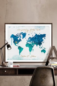 The 109 best world map posters images on pinterest room wall decor wedding map poster wedding gift wedding guestbook personalised wedding map poster guest book travel art wall art iprintposter gumiabroncs Choice Image